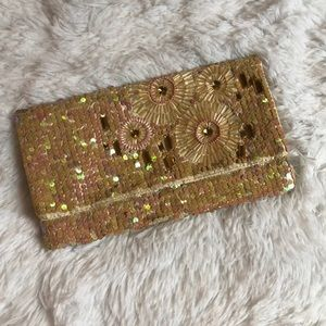 Charming Charlie Sequin clutch